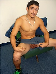 Cute latino twink Jon stripping and jerking off dick, Added: 2011-09-19 by Miami Boyz
