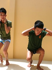 Thai Twink Fucking Threesome in 'Military Students Gone Gay', Added: 2012-02-14 by BoyKakke