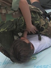 The soldier's prisoner sucks his guards cock, before before having his man hole filled with military cock., Added: 2012-05-25 by Asia Boys