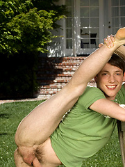 Cute twink posing on a lawn, Added: 2012-06-05 by Colt Studio