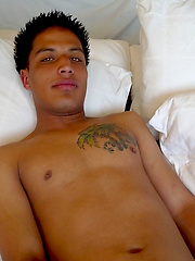 Latino twink strokes his cock, Added: 2012-07-11 by Young Latino Studz