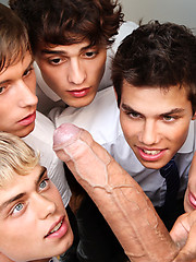Kinky Angels boys seduce priest Trevor Yates as only they know how., Added: 2012-09-21 by Bel Ami Online