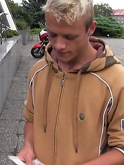 Czech Hunter 52. Blond czech boy gets facial., Added: 2012-09-29 by Czech Hunter