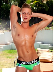 Blond spiky hair, adorable face and a nice long dick makes Skyler West someone you will want to keep an eye on., Added: 2012-12-07 by Randy Blue