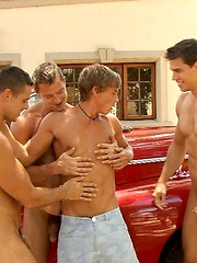 Kevin Warhol, Kris Evans, Manuel Rios and Sascha Chaykin fucking outdoors, Added: 2013-01-04 by Bel Ami Online