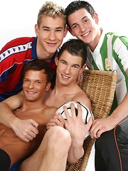 Footie kits and group sex!!, Added: 2013-08-22 by Staxus