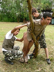 Twink gets tied up & forced to suck!, Added: 2013-10-16 by Gay WarGames