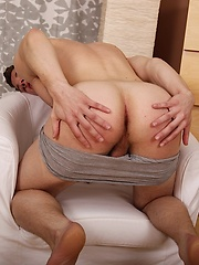College boy Jace spreads his hairy asshole., Added: 2014-04-30 by BF Collection